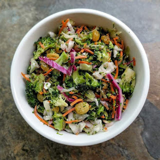Vegetable Slaw Recipe (Broccoli, Carrot & Cabbage Slaw).