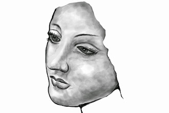 Photo: Use shading to give the face three-dimensional shape. In the previous lessons you learn to use shading to give shape. Here's where you put it all together. This is where the patience and undo button skills come in.