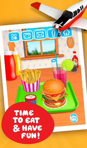 Burger Deluxe - Cooking Games apkpoly screenshots 17