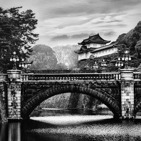 Imperial Palace Guard Tower by Brandon Rechten - Buildings & Architecture Public & Historical ( pwcbuilding )