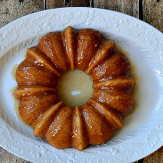 Banana Bundt Cake With Caramel Sauce