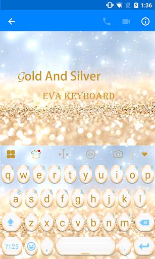 玩免費遊戲APP|下載Gold And Sliver Eva Keyboard app不用錢|硬是要APP