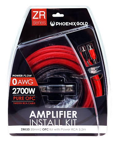 Kampanj! 50mm2 OFC kit with power RCA 5,2m