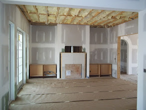 Photo: Family Room fireplace rough-in