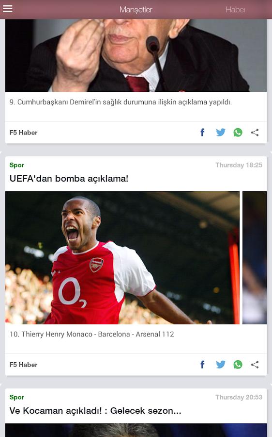 F5 Haber - Gazete Manşetleri - screenshot
