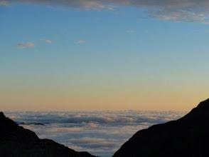 Photo: Ref du Portillon: mare di nuvole al tramonto...