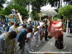 Photo: 【平成23年(2011) 本宮】 亀ヶ池八幡宮にて安全祈願のお祓いを受ける。