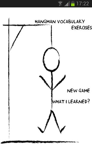 Hangman Vocabulary Exercises