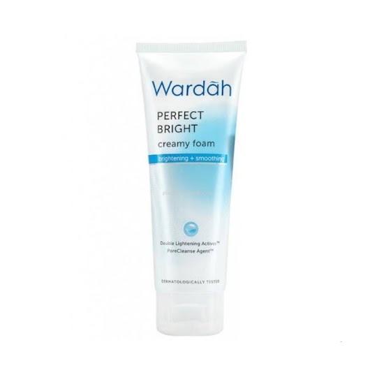 Perfect Bright Creamy Foam Brightening Smoothing WARDAH membersihkan menghaluskan melembabkan wajah