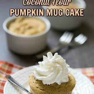 Coconut Flour Paleo Pumpkin Mug Cake.