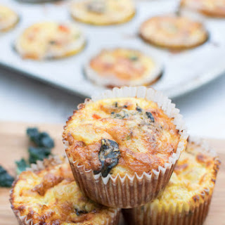 Cheesy Kale Breakfast Mini Frittatas [vegetarian].