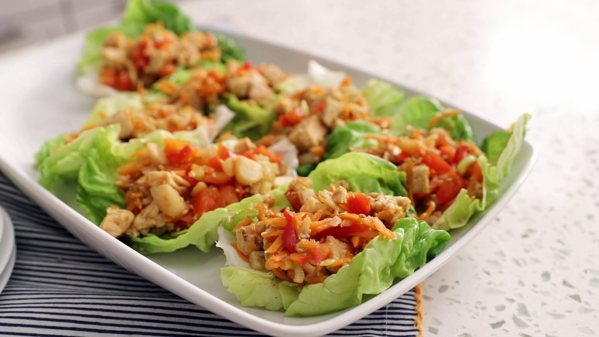 Healthy Asian Chicken Lettuce Cups Recipe Yummly