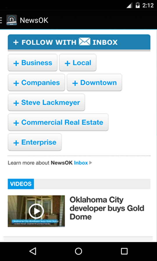 NewsOK- screenshot