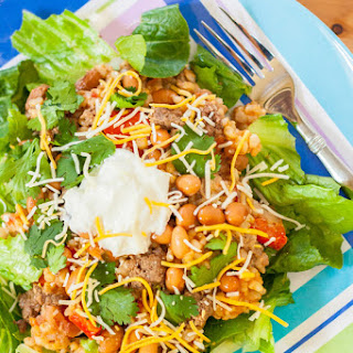 Mexican Bean and Rice Casserole Salad.