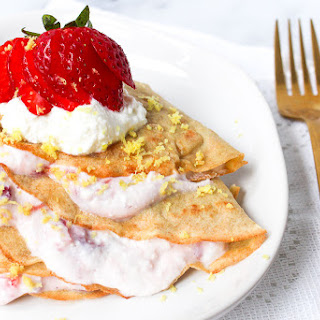 Crepes with Strawberry Lemon Ricotta Filling Recipe