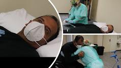 El médico del Hospital de Poniente trabaja para recuperarse de la covid.