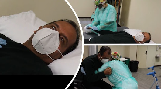 La lucha por recuperar su vida del primer médico almeriense en la UCI por covid