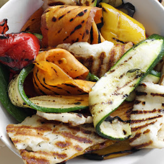 Grilled Vegetable and Haloumi Wraps.