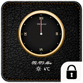 Luxury clock leather theme