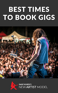 Best time to book gigs