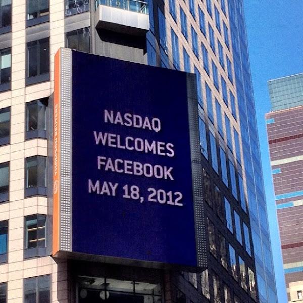 Photo: Nasdaq welcomes Facebook.