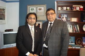 Photo: (Left to right) Husain F. Neemuchwala & Hon. Deepak Obhrai, Parliamentary Secretary to the Minister of Foreign Affairs  http://canadaindiaeducation.com/introduction/media-outreach