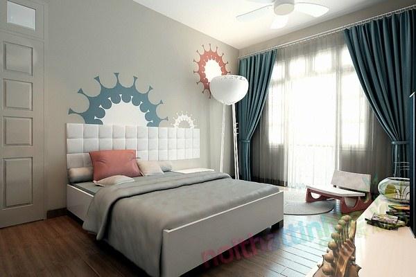 Biến căn phòng ngủ tối tăm trở nên sáng sủa.