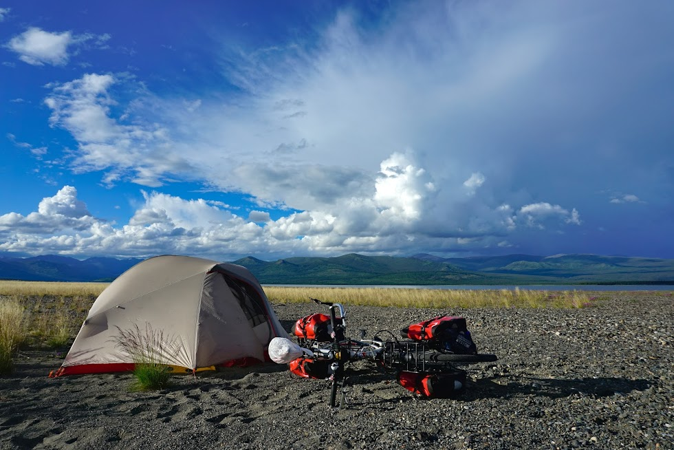 A rare break in the rain and wind made for a wonderful evening at camp - Yukon Territory, Canada