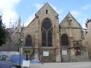 Photo: Andresy's 13th century Église St-Germain is undergoing extensive renovation, and so not open today.