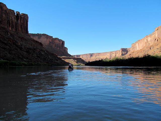 Final stretch of river