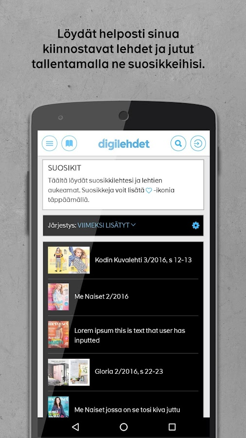 Digilehdet- screenshot