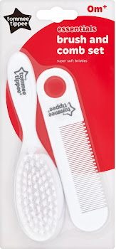 Tommee Tippee Essentials Brush and Comb Set - White