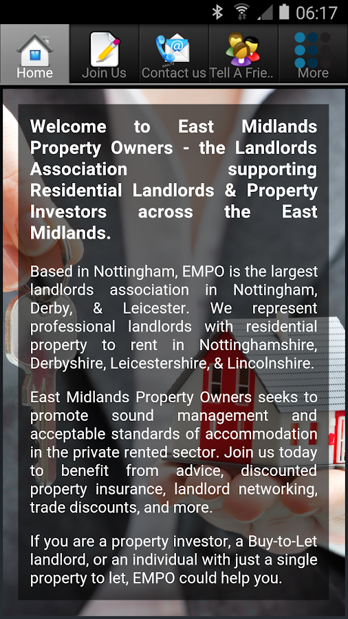 East Midlands Property Owners- screenshot