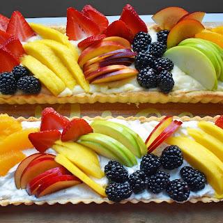 Lemon Cream Filled Fruit Tart.
