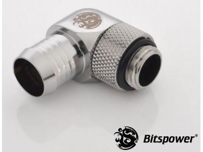 "Bitspower svivelnippel, 90°, 1/4""BSPx1/2""ID"