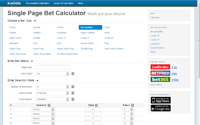 Image result for Bet Calculator