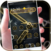 Gold Clock Theme Luxury Gold