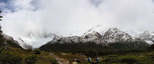 Photo: Fitz Roy (left, in clouds) and friends