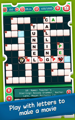 Movies Crossword Puzzle Game : Hollywood, Actors android2mod screenshots 10