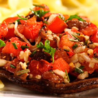 Baked Stuffed Portobello Mushrooms