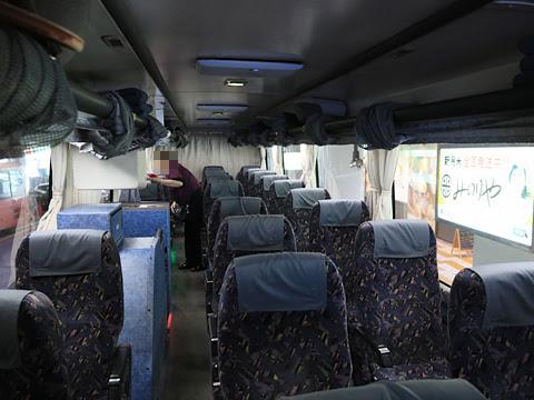 名鉄バス「名古屋~新潟線」 2801 車内