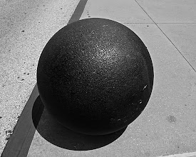 Photo: sphere on the curb
