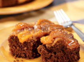 Peachy Gingerbread Upside-down Cake Recipe