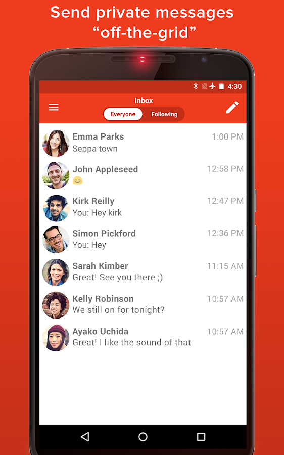 FireChat- screenshot