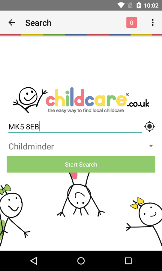 Childcare.co.uk- screenshot