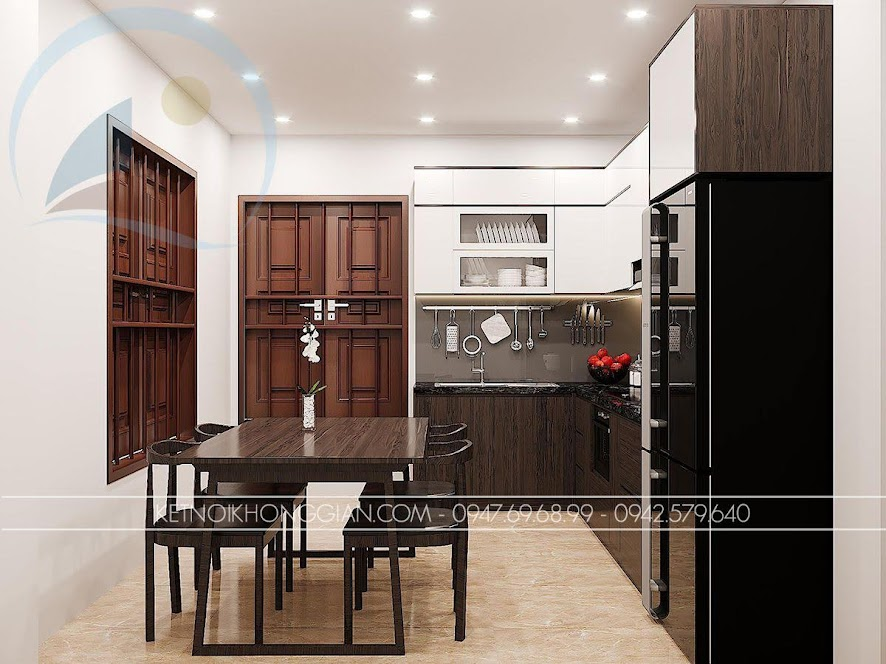 bài trí nội thất bếp ăn
