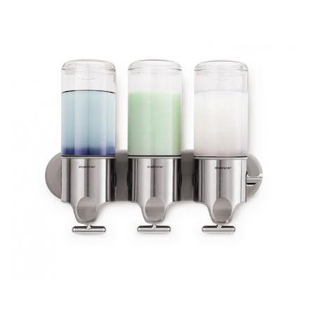 Väggmonterad Tvålpump Trippel Simplehuman