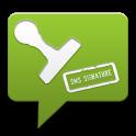 SMS Signature icon