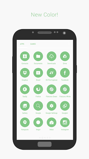 Flatcons Green Icon Pack