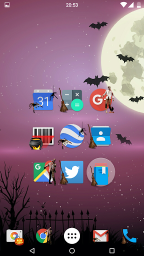 Theme Halloween icons HD